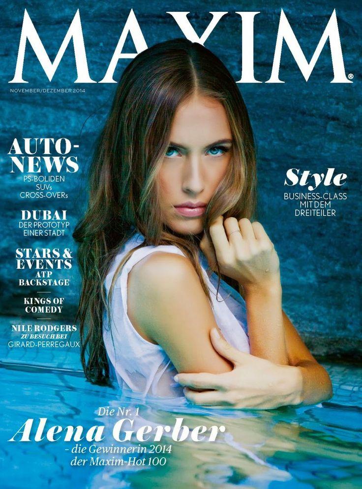 Alena Gerber - Maxim Magazine, Switzerland, November/December 2014