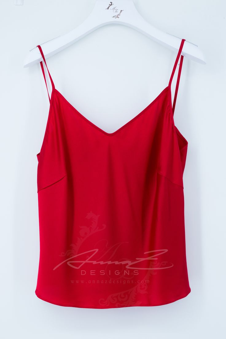 Glen Top in Ruby Silk by AnnaZDesigns