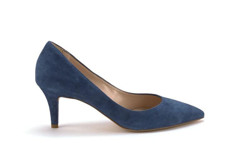 Scarpe Donna SCARPE ITALIANE Decolette donna a punta Blu