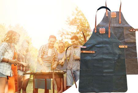 Luxe lederen schorten   Stoer en stijlvol voor in de keuken of achter de BBQ