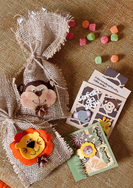 Convite de scrap com bichinhos / DIY, Craft, Upcycle