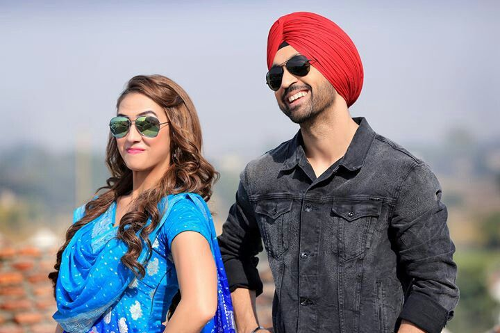 Diljit Dosanjh and lauren in Ambarsariya