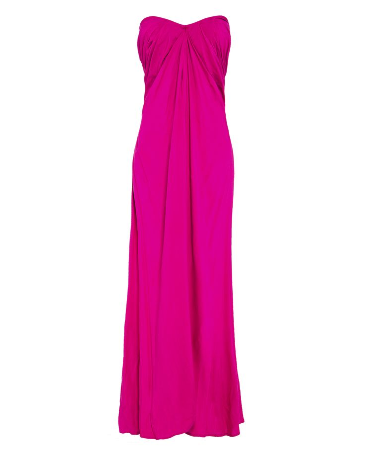 Drape sleeveless maxi dress in pink, available on www.46664fashion.com or Stuttafords stores South Africa