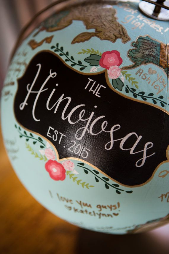Custom Hand-Painted Wedding Guest Sign-in by ElMundoDesigns