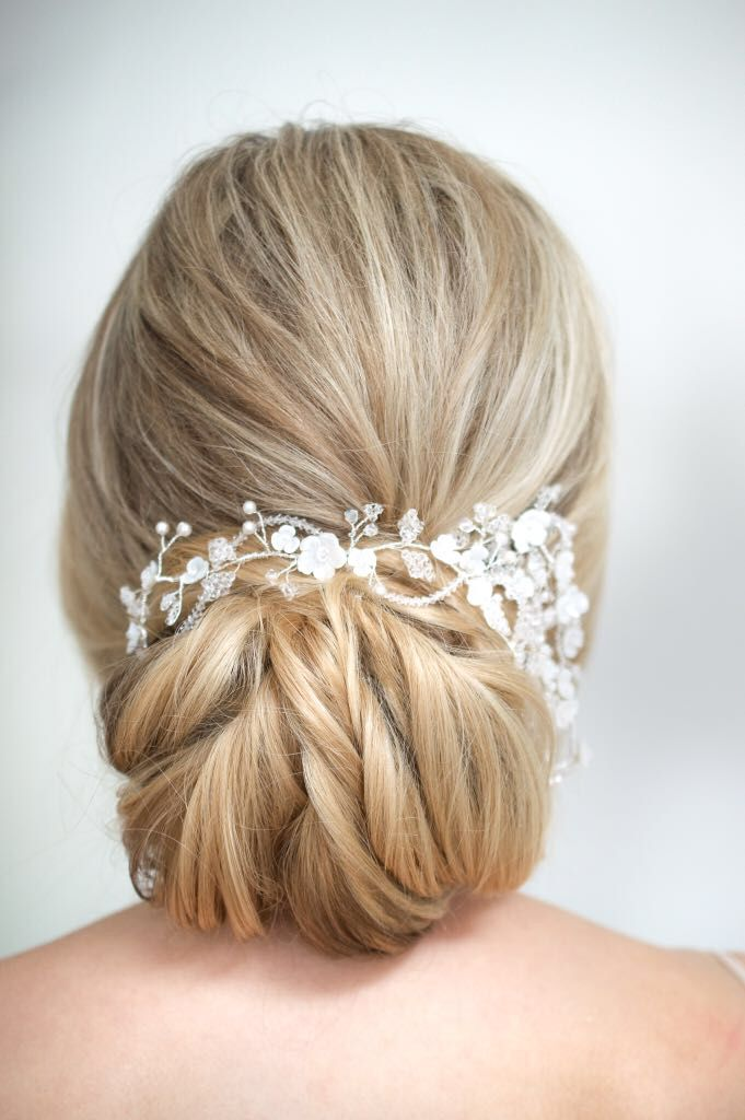 Pretty Textured Bun Wedding Hairstyles Beautiful Wedding Hair Blonde Bridal Hair