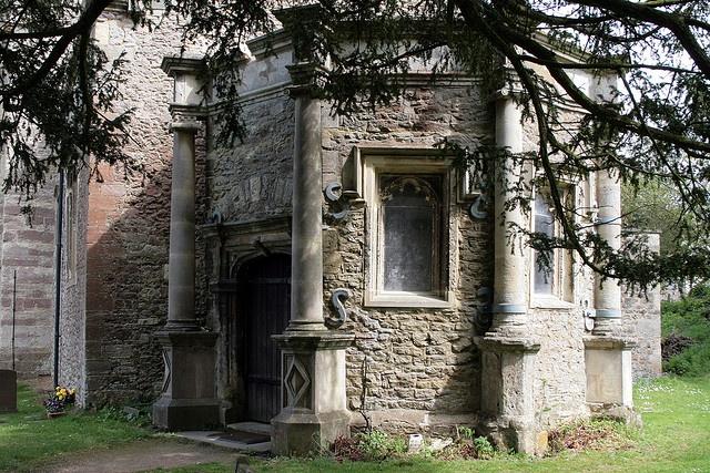 "Bishop Jewel's porch Sunningwell , Oxfordshire, ""Old Berkshire"", via Flickr."