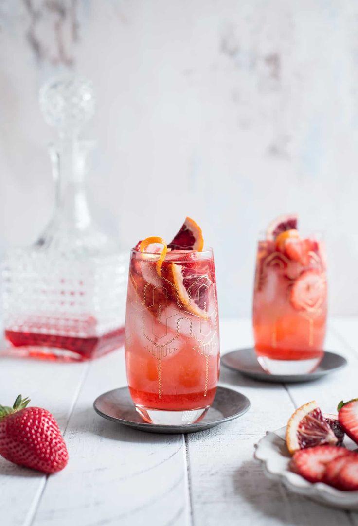 Strawberry Campari Gin Spritz