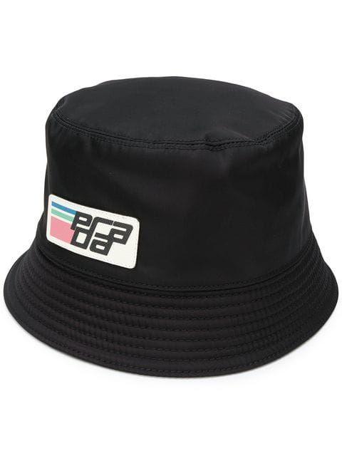 e63b8120 Shop Prada logo patch hat. Caps For Women, Caps Hats, Patches, Baseball