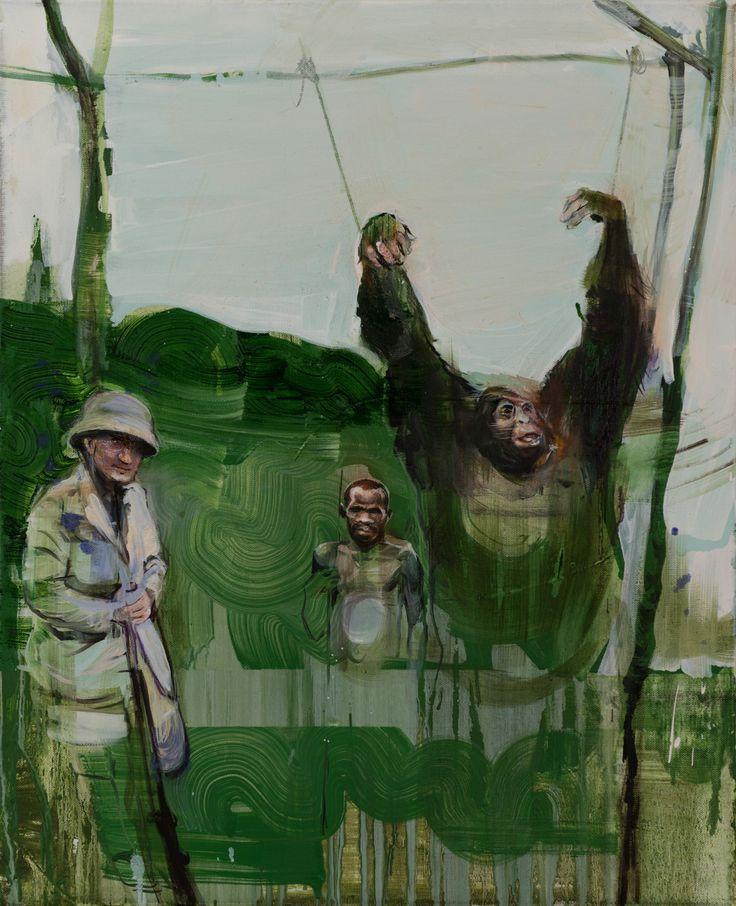 Radek Szlaga -------     Hunters 3 (oil on canvas )