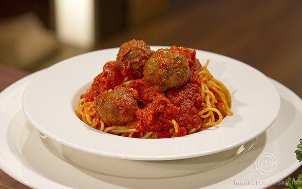 Spaghetti w/ meatballs