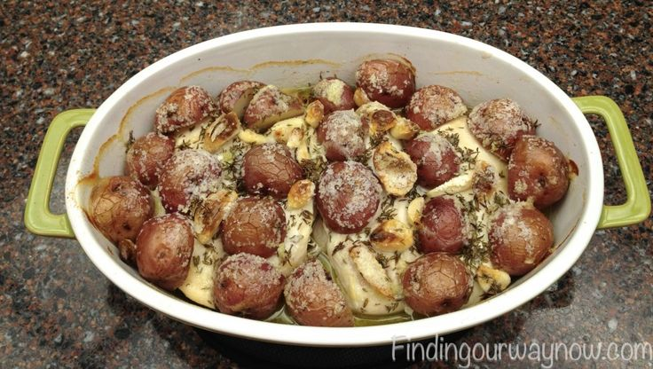 Roasted Chicken Breast with Garlic Redskin Potatoes