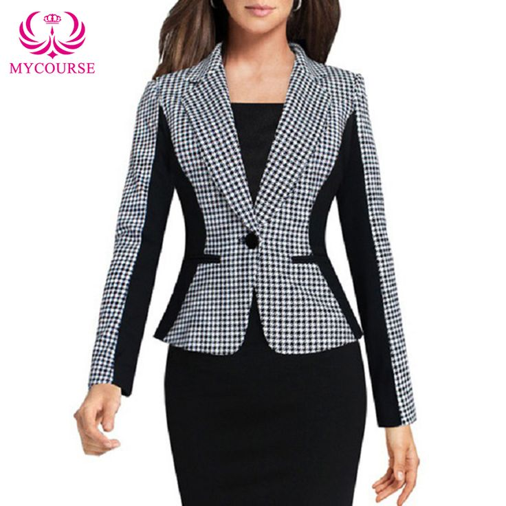 Find More Basic Jackets Information about MYCOURSE Fashion 2016 Long Sleeve Houndstooth Slim Jacket Coat Top Elegant Lapel Optical Illusion Work Business Office Outwear,High Quality coat wiki,China coat apron Suppliers, Cheap outwear vest from MYCOURSE on Aliexpress.com
