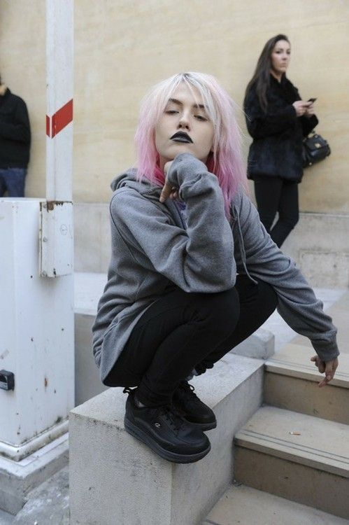Pastel goth - this is the look I've been working towards all my life I feel. Yes.