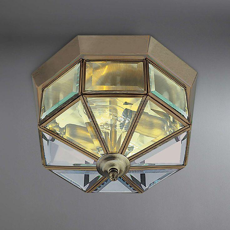 Antique Brass Flush Light Fitting | Dunelm Part 81