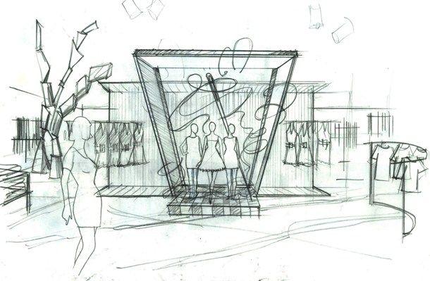 Visual Display Sketch | Architecture Interior Design Styles Ideas... | Pinterest | Sketches ...