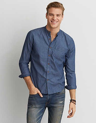 AEO Banded Collar Shirt -