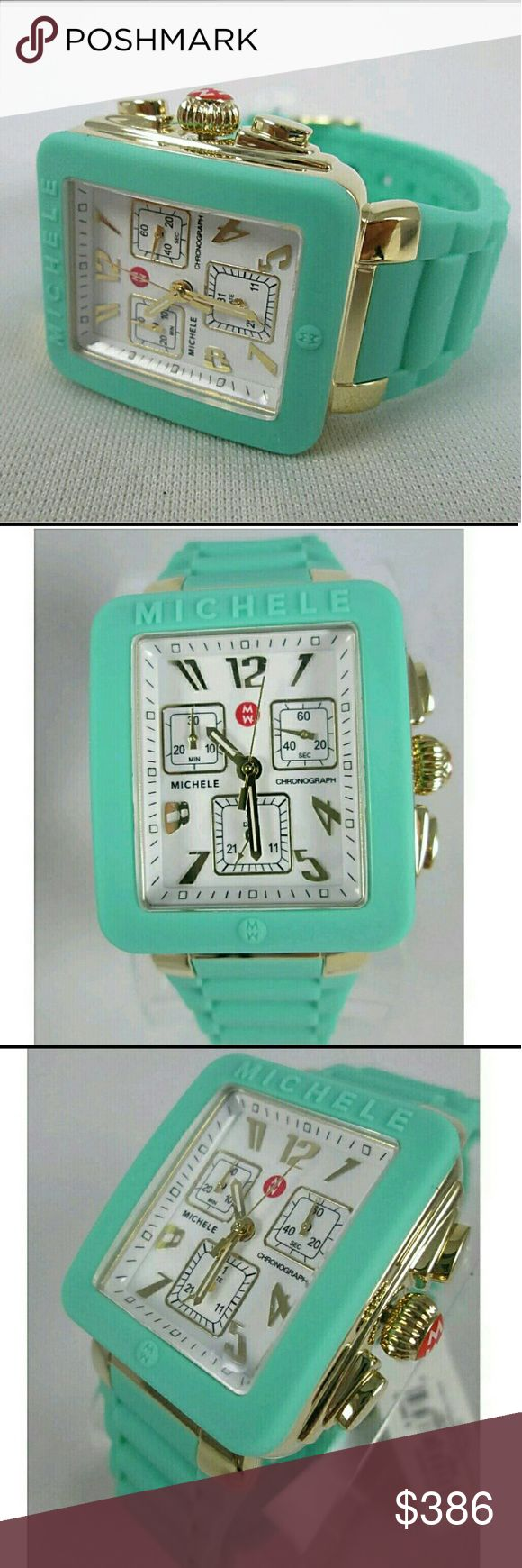 NWT Michele seaform ladies watch Brand New In Box Michele Silicone Band ladies watch.    FRIM PRICE FIRM PRICE FIRM?  $386.00  . AUTHENTIC WATCH?  . AUTHENTIC BOX  . AUTHENTIC MANUAL?    SHIPPING?  PLEASE ALLOW FEW BUSINESS DAYS FOR ME TO SHIPPED IT OFF.I HAVE TO GET IT FROM MY STORE.?    THANK YOU FOR YOUR UNDERSTANDING. Michele Accessories Watches