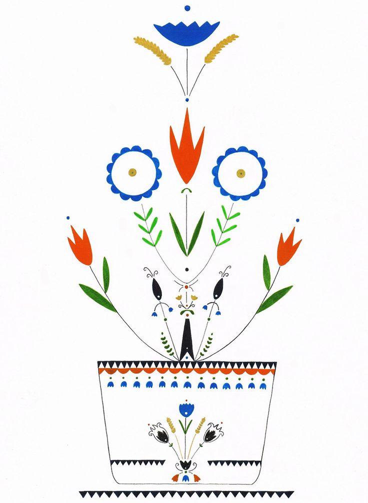 folk flowers. http://fabricandcolor.com/