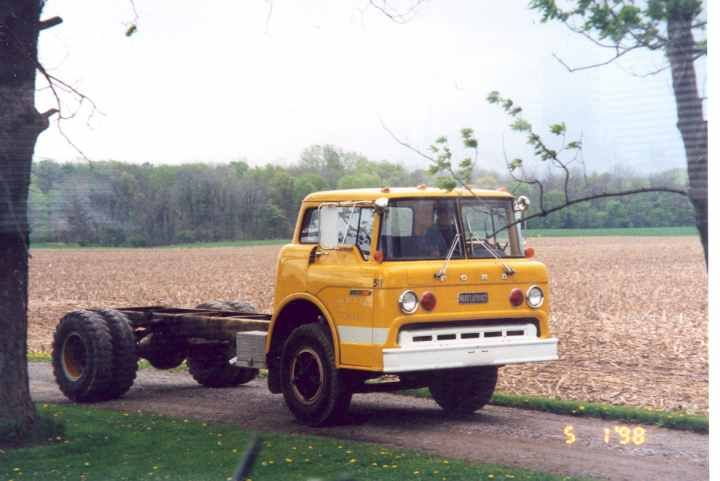 1971 Ford C-900 COE, started its life as a Ward LaFrance Pumper