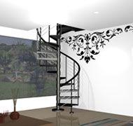 escaleras econmicas y fciles de instalar con peldaos de madera cristal acrlico mosaico