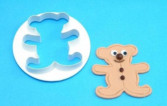 Teddy Bear Fondant Biscuit Cookie Cutter by TorisPartyKitchen, $7.99