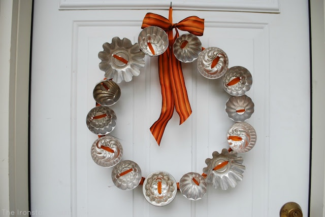 The Ironstone Nest: All About Jello Molds - Fall Wreath from Jello Molds