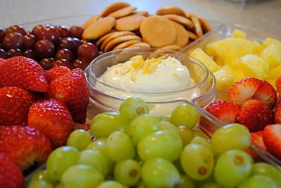 Perfect fruit dip for the shower- Lemon Cream Cheese Fruit dip