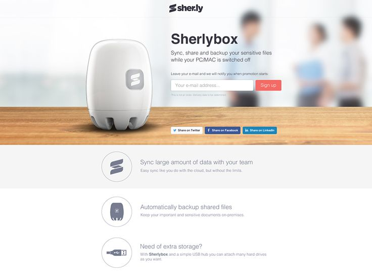 Sherlybox Website by Maciek Młynek