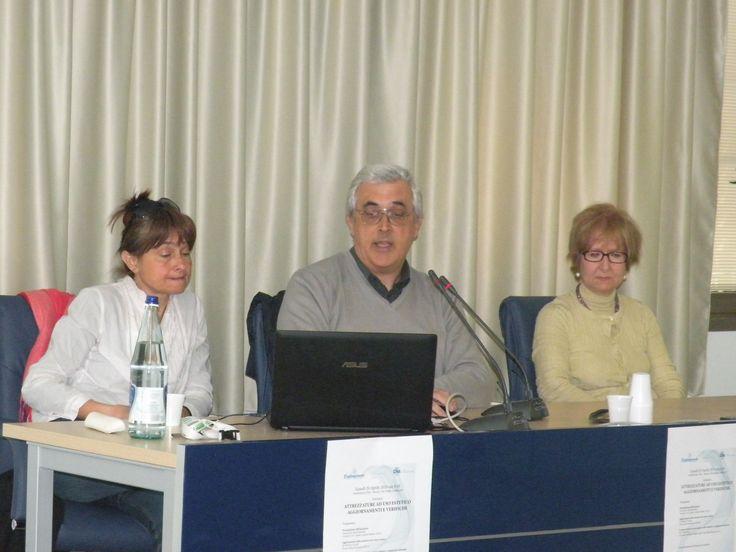 I relatori del Seminario : Iole Pinto, Roberto Cacioli e Maria Teresa Maurello della Usl8 di Arezzo