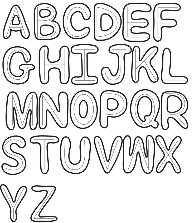 How To Draw Bubble Letters In Simple Steps : Step By Step