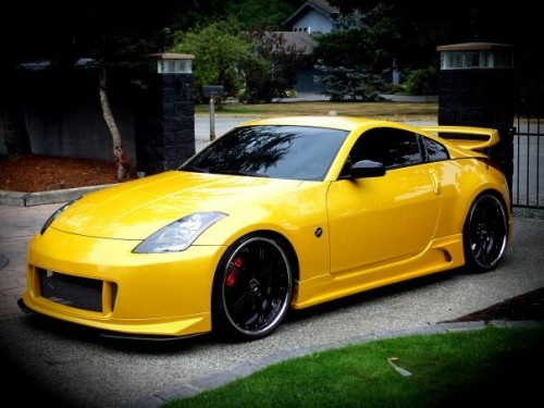 Yellow Nissan 350z Upgrade The Interior Of Your 350z With