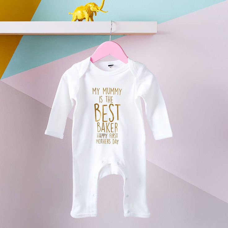 'My Mummy Is The Best…' Personalised Rompersuit. This personalised babygrow is the perfect present for a new little one, and really, a babygrow for Mummy.