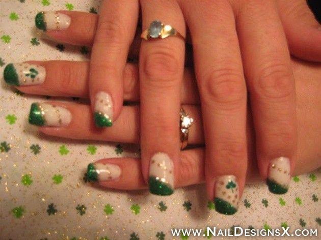 cute Irish nail art - Nail Designs and Nail Art