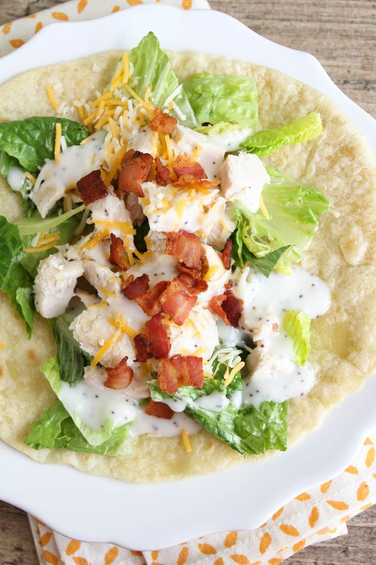 These simple and delicious chicken club wraps are the perfect easy lunch!!