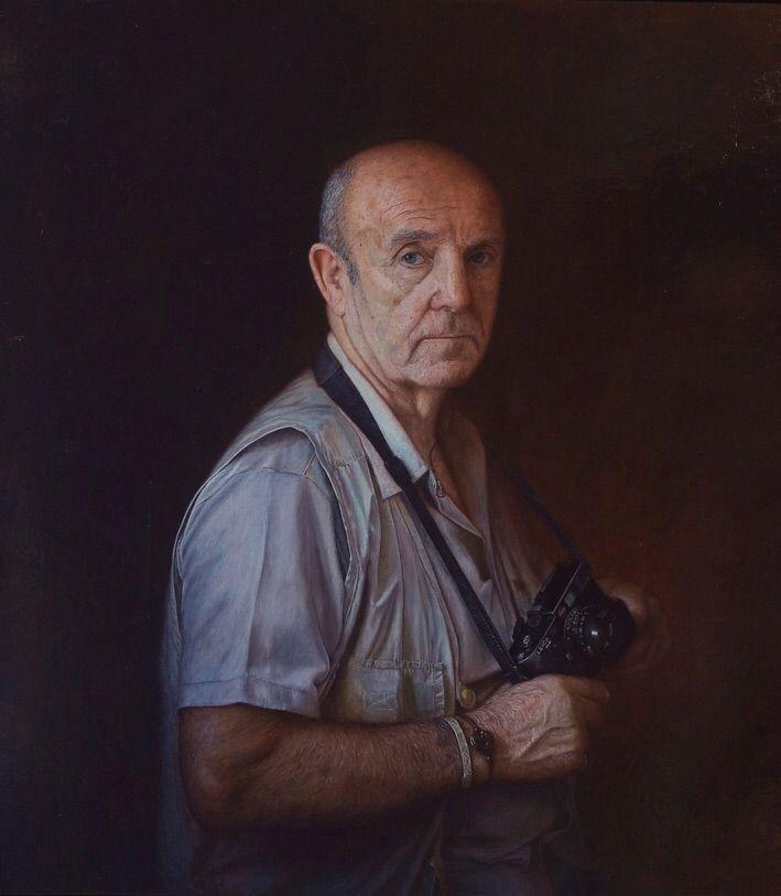 """Viggo Rivad photographer 1922-2016"" Oil on canvas of Per Pardorf 2004"