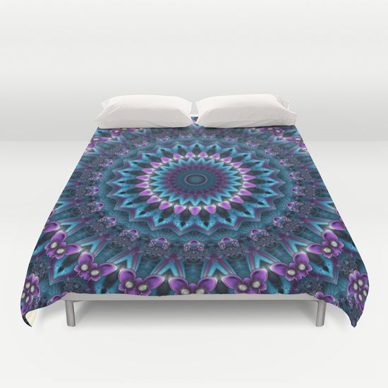 Luscious Purple and Blue Kaleidoscope Duvet Cover by Kirsten Star. Worldwide shipping available at Society6.com. Just one of millions of high quality products available.
