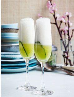 Champagne drink med agurk