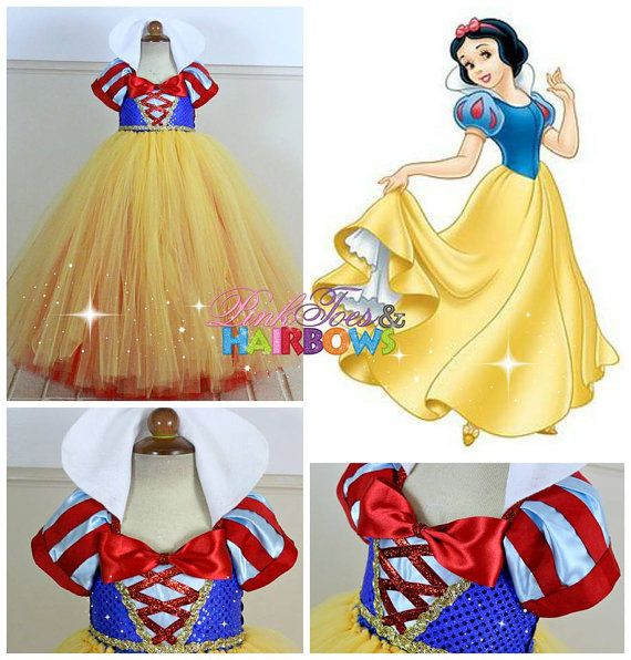 Snow White Tutu DressSnow white dress Snow white by GlitterMeBaby