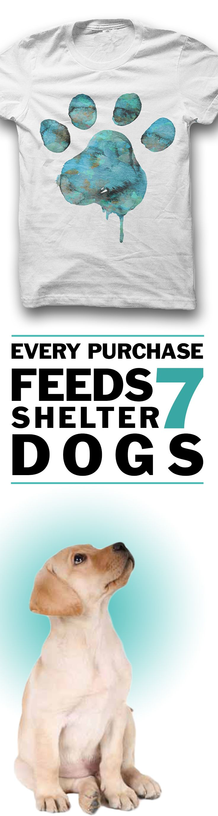 Would you wear this?  *Every purchase feeds 7 shelter dogs!