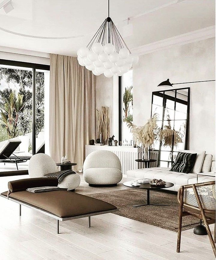 Perfect Yin And Yang Balance Of Textures In This Organic Modern Living Room Mb Marieburgosd House Interior Decor Contemporary Living Room Design Interior