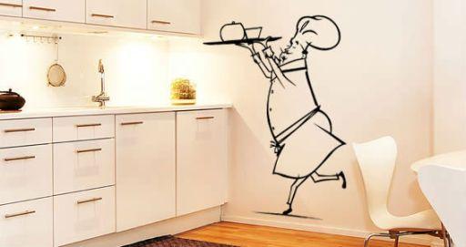 Декор кухни своими руками: рисунки, виниловые наклейки (фото)