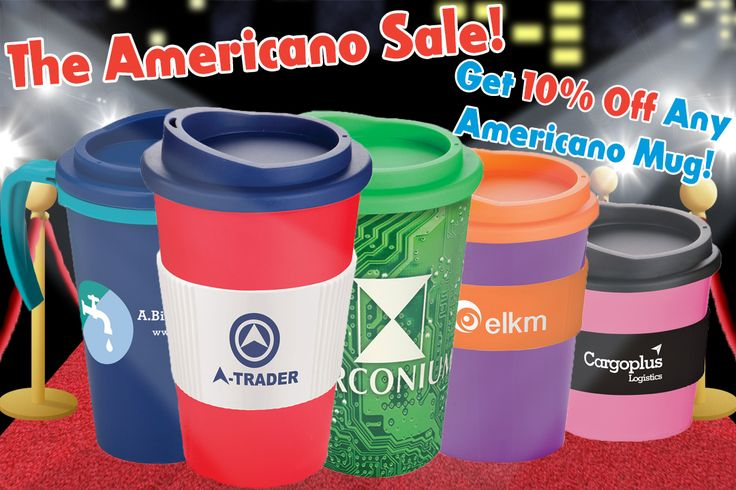 "Get 10% off any Americano Mug by using the discount code ""AM10OFF"" upon checkout! See the range here: http://www.promoparrot.com/catalogsearch/result/?cat=0&q=Americano+Mug #Americano #Travelmug #sale"