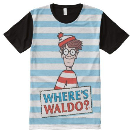Where's Waldo Logo All-Over-Print T-Shirt - click to get yours right now!