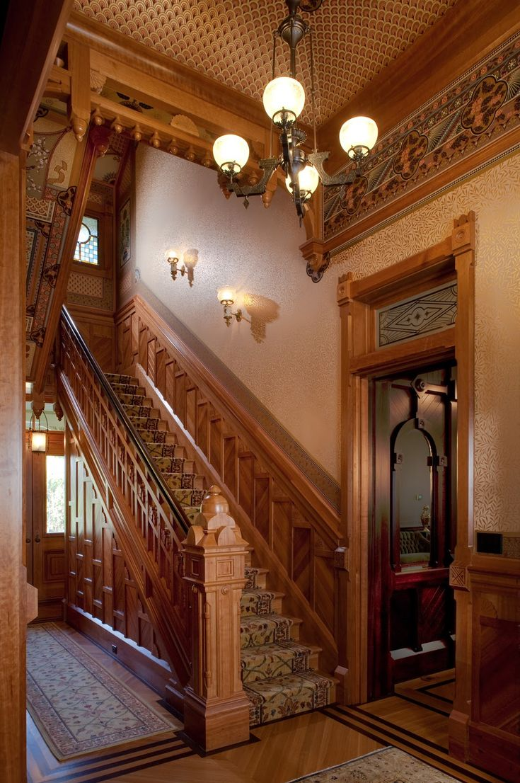 Best Mcdonald Mansion Main Stair Hall Style Architecture 400 x 300