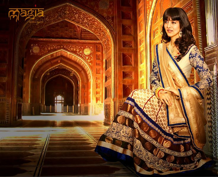 Ravishing Ro hini in the Bridal outfit of Mmagia.