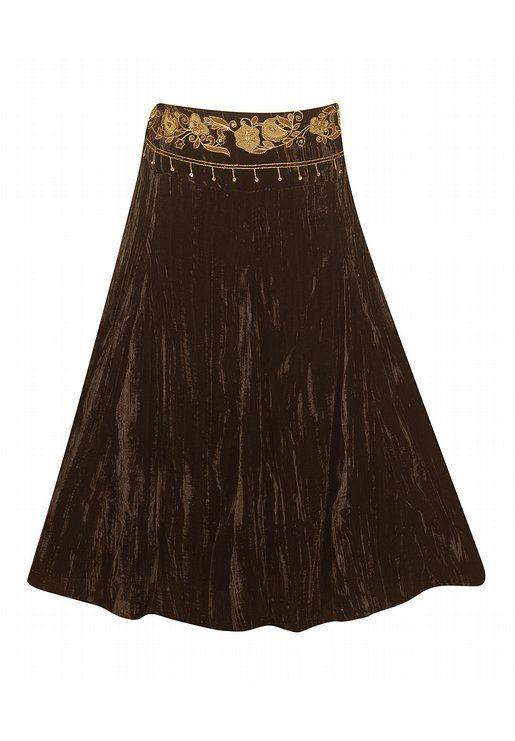 Brown Velvet Skirt 44