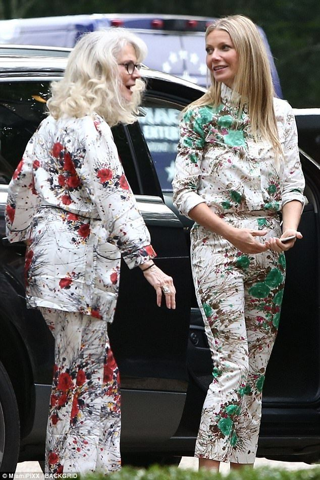 Like mother, like daughter: Gwyneth Paltrow, 44, proved she and her mother, Blythe Danner, 74, are on the same page when it comes to fashion as they opted to wear very similar outfits.