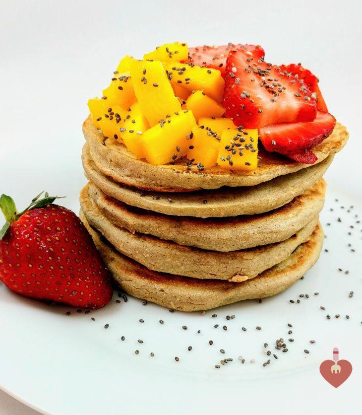 Pancakes de harina de maiz MASECA, muy sanos y deliciosos. Excelente idea de desayuno.