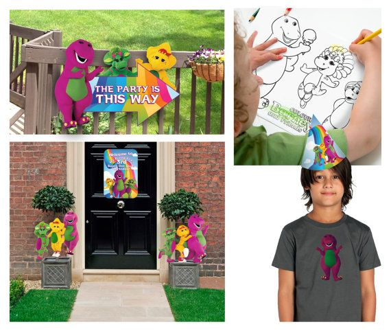 Barney the Dinosaur & Friends  Printable Birthday Party Pack