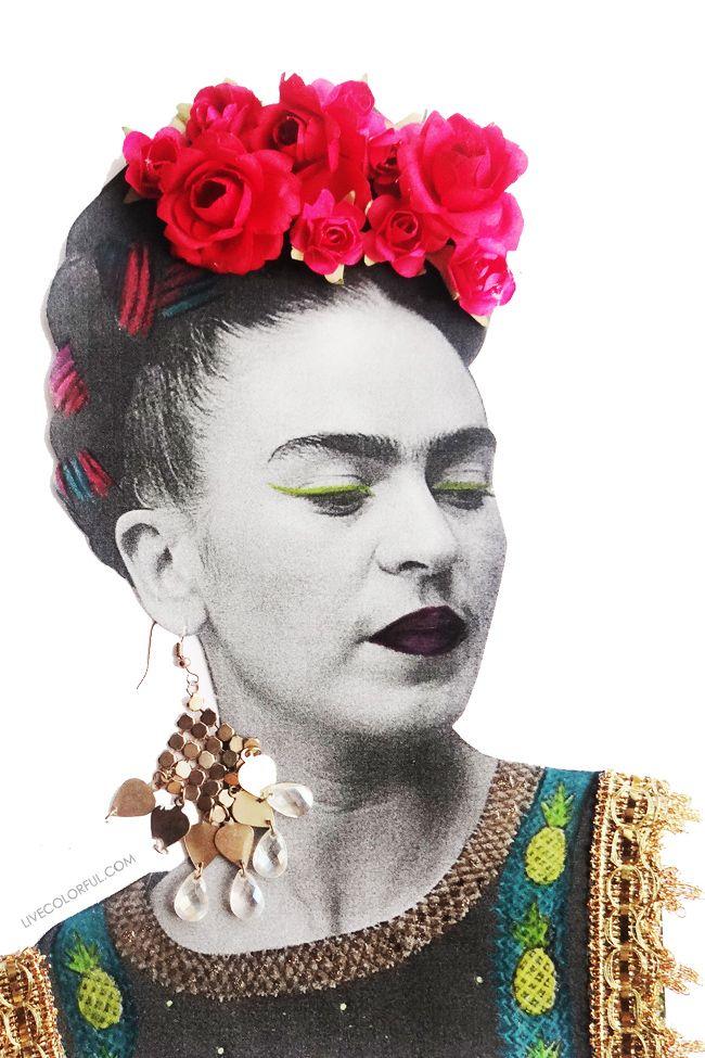 Como hacer un nicho en 3D y collage con la fotocopia de Frida Kahlo | Live Colorful